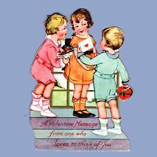 Vintage Valentine Card VALENTINE'S DAY 1920s From One Who Loves to Think of You