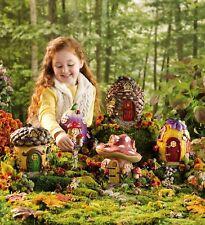 HearthSong Miniature Fairy Garden Village, Set of 5 Fairy Houses