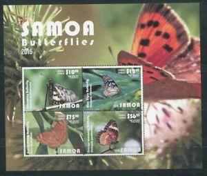 Samoa 2015  fauna butterflies s/s MNH