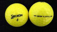 """10 SRIXON  """"SOFT FEEL"""" - """"YELLOW"""" - Golf Balls - """"PEARL/A"""" Grades."""
