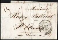 France 1843 Pre Stamp Entire Lyon to Saint-Étienne Postal History