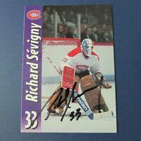 RICHARD SEVIGNY  Montreal Canadiens Molson Export SIGNED AUTO  Quebec Nordiques