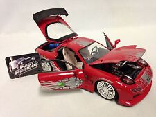 """FAST FURIOUS DOM'S 1993 MAZDA RX-7 COLLOECTOR'S  8.25"""" Diecast 1:24 Jada Toy RED"""