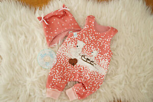 ♥ Babyset, Gr. 62, handmade Unikat, Strampler, Babymütze, Eisbären, rosa ♥