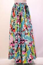 Talla Grande Bohemio Retro Abstractas Floral cintura alta falda larga Múltiple