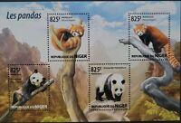 Niger 2015 /Fauna - Bears - Pandas / 4v minisheet MNH