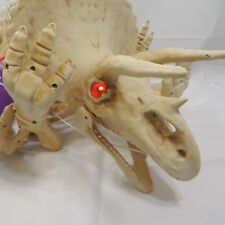 Home Accents Animated Triceratops Dinosaur LED Illuminated Eyes Halloween
