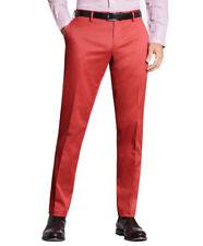 Brooks Brothers Mens Dark Pink Clark Fit Cotton Stretch Pants  36W x 30L 8571-3