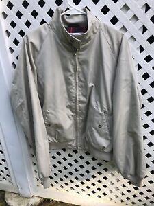 Vintage Rare Baracuta Classic Harrington Lined Casual Zip Front Jacket 46 R