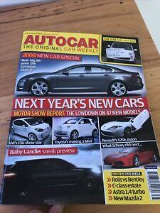 Autocar car magazine SEPT 2007 500 MAZDA 2 ROLLS BENTLEY C ASTRA X6 RS4 R26 R
