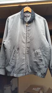 Mens gray black Pierre Cardin Paris jacket