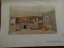 Arts & Crafts 1907 Architectural Architecture print INGLE NOOK by H BUTLER