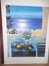 GEORGES BLOUIN STILL LIFE  FLOWER VASE SIGNED LITHOGRAPH French