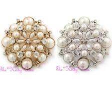Modeschmuck-Broschen & -Anstecknadeln aus Perlen mit Kristall für Damen