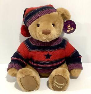 "Collectable Harrod's 2004 Christmas Bear With Tag - Thomas - 13"" / 33cm Harrods"