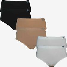 6 Stk Damen Slips Brasilianer Rio Slip Bikini Microfaser Unterwäsche beige