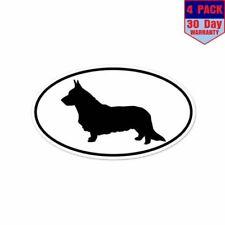 Cardigan Welsh Corgi Dog Breed Shape 4 Stickers 3x5 Inch Sticker Decal