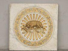 Décoration religieuse : plaque de décoration en marbre doré