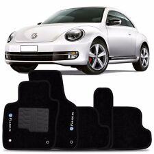 VW New Beetle INTERIOR CARPET FLOOR MAT LOGO 2012-2017 BLACK FloorLiner Mats