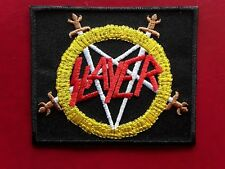 SLAYER AMERICAN THRASH HEAVY METAL ROCK MUSIC BAND EMBROIDERED PATCH UK SELLER