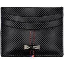 S.T. Dupont Unisex Credit Card Holder Defi Light Perforated Black Leather 170406