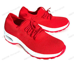 Brand New Womens Sneakers Sock Air Cushion Platform Mesh Lace Up Slip on Walking