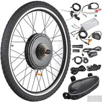48V 1000W Rear Wheel Electric Bicycle E-Bike Conversion Kit Cycling Motor w/ LCD