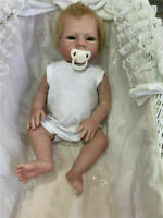 "18"" Handmad Reborn Baby Girl Doll Full Silicone Body Lifelike Girl Doll Gift"