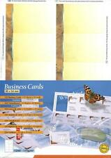 Decadry 120 x Yellow Decorative Make your own Business cards on A4