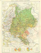 1928 mappa ~ la Russia in Europa sviluppo commerciale commercio estero commodites ETC