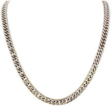 Stainless Steel Silver 30 Inch, 10mm Flat Curb Chain Necklace - Cuban Chain