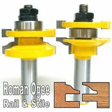"2pc 1/2"" Shank Roman Ogee Rail and Stile Router Bit Set sct 888"