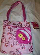 CHESHIRE CAT Disney POOK A LOOZ Hand BAG PURSE Crossbody Pink Cloth TOTE New