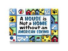 "Deco Magnet 2""x3"" American Eskimo Fridge Magnet dog breeds rescue dogs Usa"