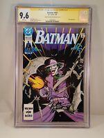 BATMAN #451 CGC Signature Series NM+ 9.6 MARV WOLFMAN Signed Cover 1990