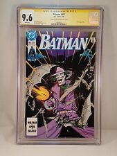 BATMAN #451 CGC Signature Series NM+ 9.6 MARV WOLFMAN Signed Cover 1990