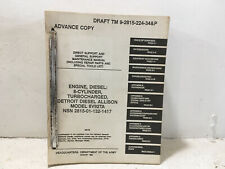 TM 9-2815-224-34&P Engine, Diesel: 8-Cyl. Diesel. Allison Model 8V92TA. 1983