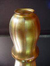 "Steuben Art Glass 10 Panel Ribbed Gold Aurene 5 3/4"" Ht. Shade Art Nouveau 1915"
