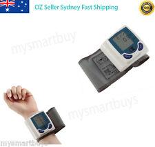 NEW Digital LCD Wrist Blood Pressure Monitor & Heart Beat Meter OZ STOCK