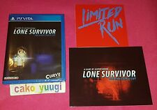 LONE SURVIVOR DIRECTOR'S CUT SONY PS VITA LIMITED RUN #31 REGION FREE + FLYERS