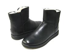 UGG ABREE MINI WOMEN ANKEL BOOTS LEATHER BLACK US 9 /UK 7.5 /EU 40