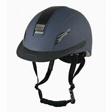 John Whitaker Vx2 Carbon Riding Hat Large Navy - Peaked Helmet Vg1 ASTM F116315