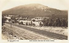 Real photo George Rose postcard Mount Macedon from near railway station Victoria