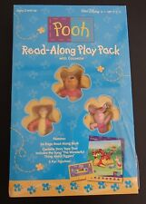 DISNEY Winnie The Pooh NEW Read Along Play Pack With Cassette Book + Figurines