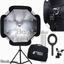 "37"" Octagon Speedlite Umbrella Softbox Diffuser Flash Lighting Soft Box Kit New"