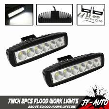 2x 7INCH 36W LED WORK LIGHT BAR Flood Light OFFROAD 4WD BOAT ATV UTV FOG DRIVING