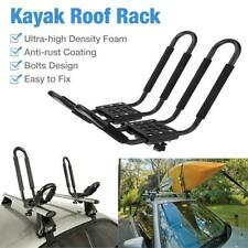 1 Pair Kayak Carrier Boat Ski Surf Snowboard Roof Mount Car Cross Rack Black