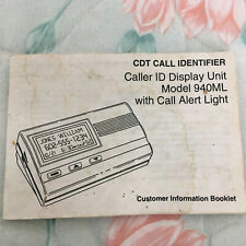 Pacific Bell #940ML Caller ID Customer Information Booklet
