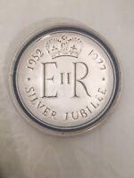 Silver Jubilee 1952-1977 Rye Pottery Queen Elizabeth Dish Plate Hand Made