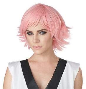 California Costumes Feathered Cosplay Wig, Rose Pink, ACC